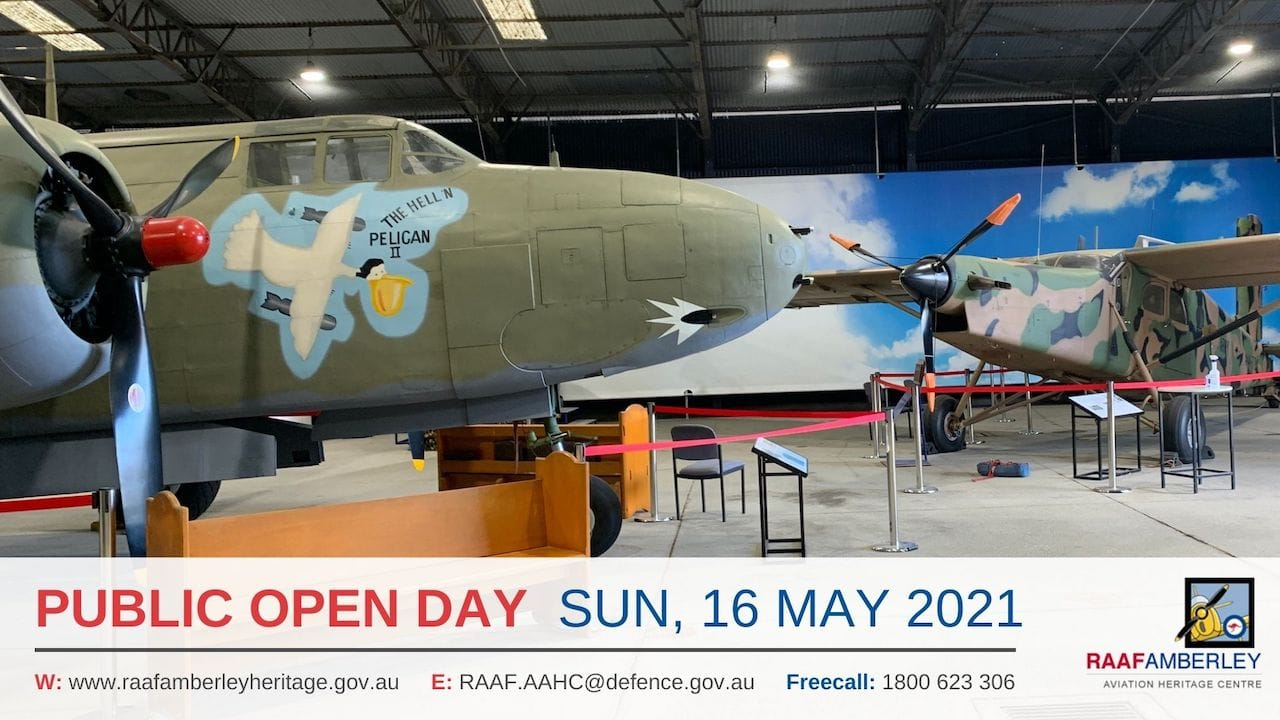 RAAF AAHC - Monthly Sunday Public Open Day - 16 May 21