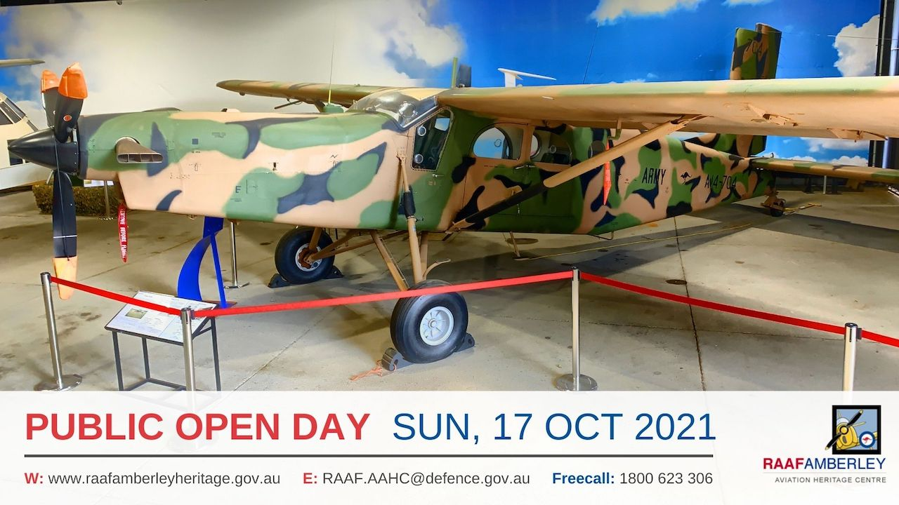 RAAF AAHC - Monthly Sunday Public Open Day - 17 Oct 21