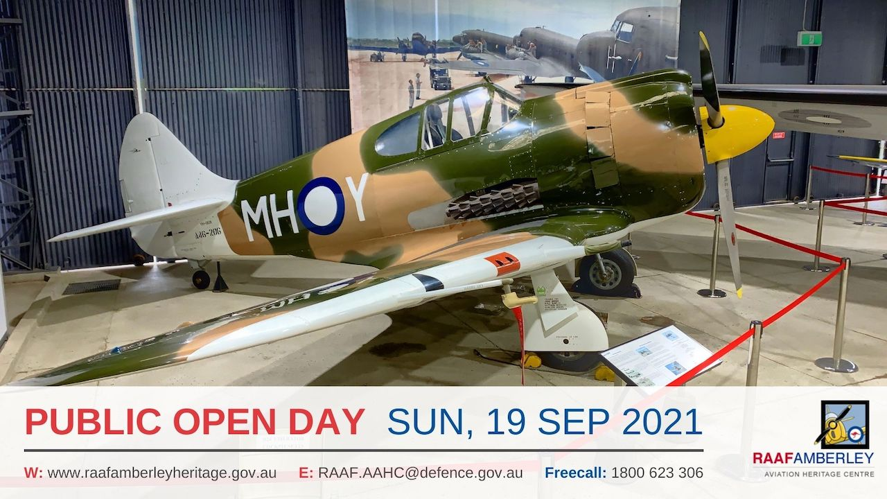 RAAF AAHC - Monthly Sunday Public Open Day - 19 Sep 21